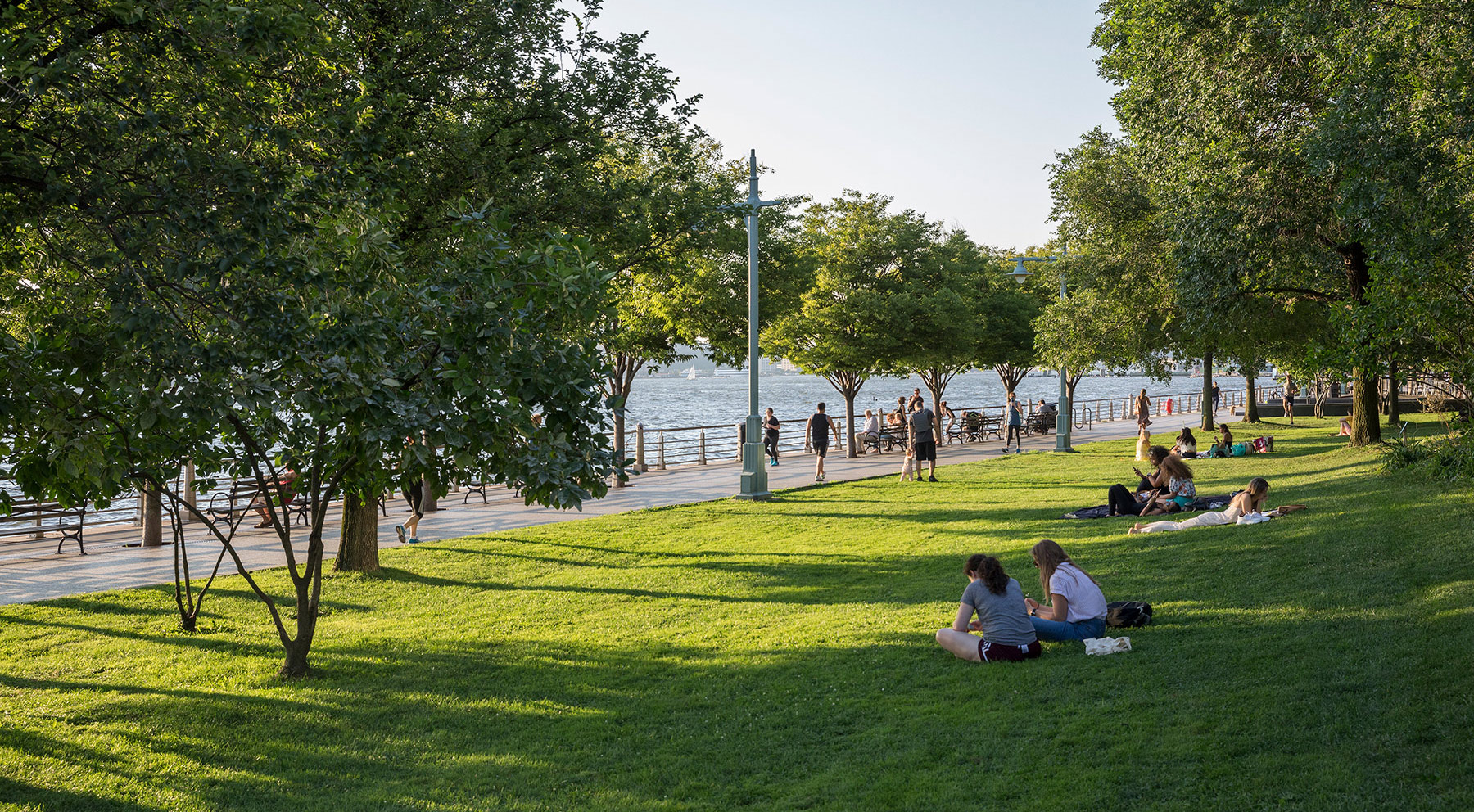 Hudson River Park is the longest riverfront park in the United States—550 acres of athletic and nautical activities